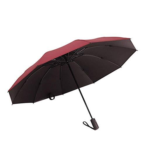 CEyyPD Paraguas plegable paraguas paraguas reversible automático 10 huesos resistente al viento paraguas compacto y ligero y cómodo portátil – ligero – plegable