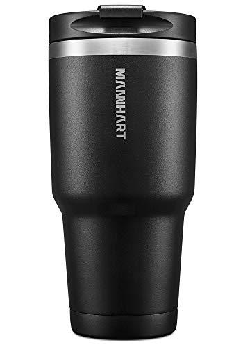 Mannhart 850,5gram Travel mug 30 OZ [ Matte Black color with Leak-Proof Lid ]