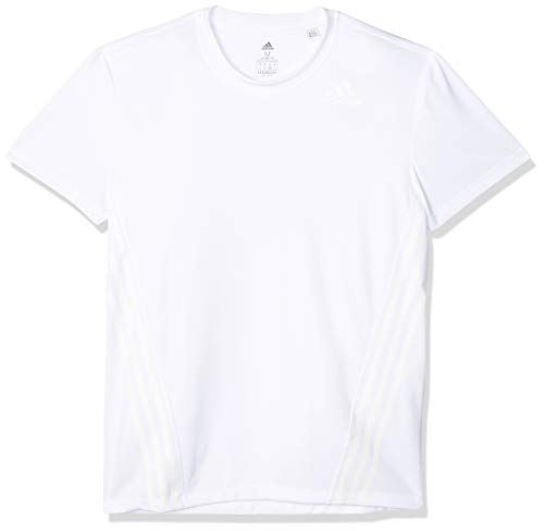 adidas AEROREADY 3 Bandas Camiseta de Entrenamiento de Cuello Redondo, Hombre, Blanco (White), L