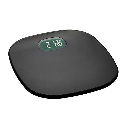 AmazonBasics - Báscula de peso corporal, función de encendido/apagado automático, soporta hasta 180 kg, gris