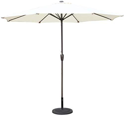 Scoperta Ombrello Ombrellone 9FT all'aperto Parasole Ombrello, Ping-Ombrello for Garden Pool Deck Mercato Umbrella (Colore: Verde, Dimensione: Ft / 270 Centimetri) ZDWN