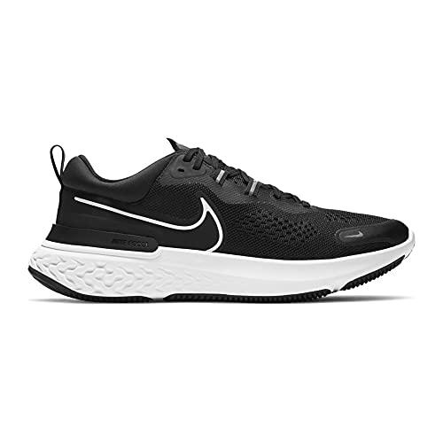 Nike React Miler 2, Zapatillas para Correr Hombre, Black White Smoke Grey, 44 EU