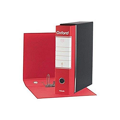 ESSELTE G83 OXFORD Registratore - f.to commerciale dorso 8 cm - Rosso - Confezione da 6 pezzi - 390783160