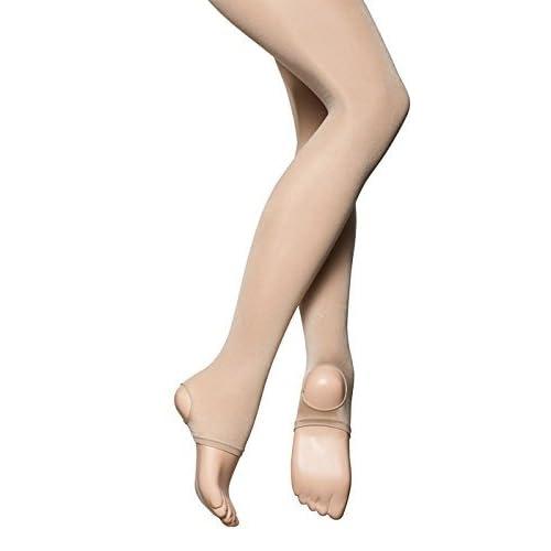 9a99dbdbb1242 Katz Dancewear Girls Ladies 70 Den Shimmer Light Toast Tan Or Dark Toast  Tan Stirrup Ballet