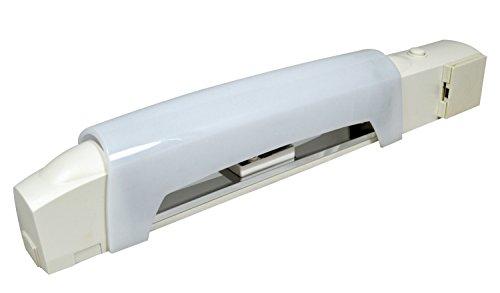 Tibelec 312030 Applique Salle de Bain Blanc avec Tube LED + Interrupteur/Prise/Diffuseur Plastique