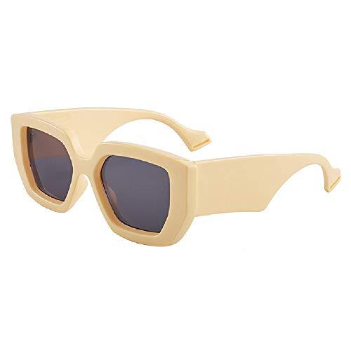 Nobrand Gafas de sol marco pequeño cuadrado Gafas de sol estilo retro