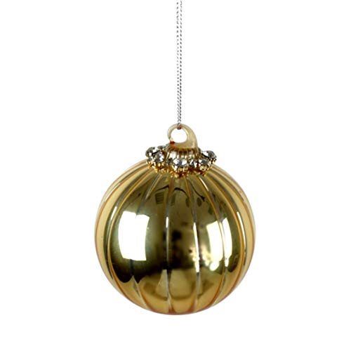 Voss - Bola de Cristal Tiffany, Oro con clunker, Cristal, 8 cm