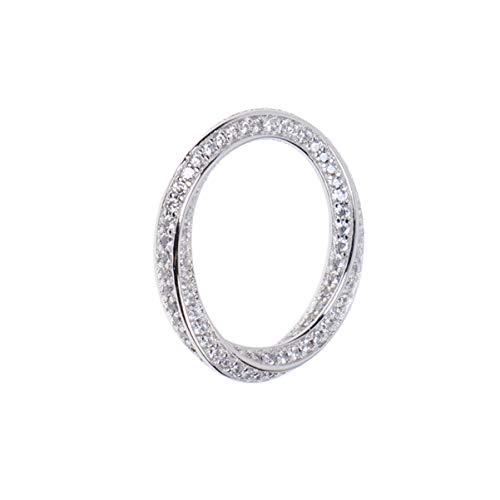 Anel de noivado de titânio com strass de cristal Happyyami aliança de casamento de cobre para mulheres e meninas acessórios de joias de casamento