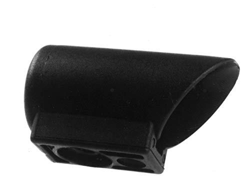4 Gleiter/Kappen für Stahlrohrtische, Gleitkappen für Rundrohre, Kunststoff, Schwarz (32 mm)