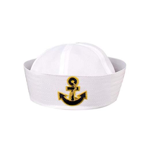 Culer Weiß Navy Hut Kappe Sailors Schiff Boots-Kapitän Militär-Hut Marine-Uniform Cap Stage Performance-Hut Für Frauen-Männer