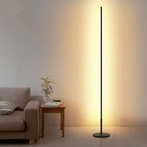 LED Stehleuchte, Nordic Modern Minimalist Lines Lampen, Für Wohnzimmer Schlafzimmer Wohnkultur Licht Remote Dimmen Stehlampe Atmosphärenlicht