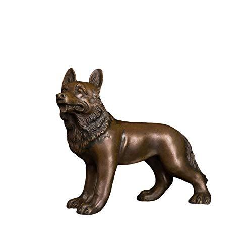 FUYIO Dekorative Moderne lebensgroße Metallhandwerk Bronze Hundeskulptur antike Bronze Hundestatue Hundefiguren Großhandel