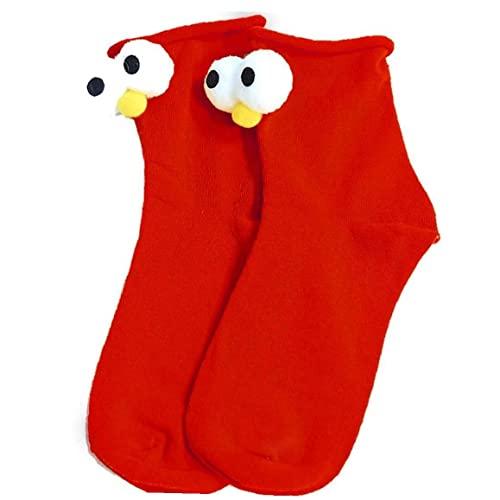 TOSSPER 1 Par Gracioso Calcetines Femenino Algodón Corto Venta Ojos Ojos Diseñador Moda Divertido Harajuku Feliz Lindos Calcetines