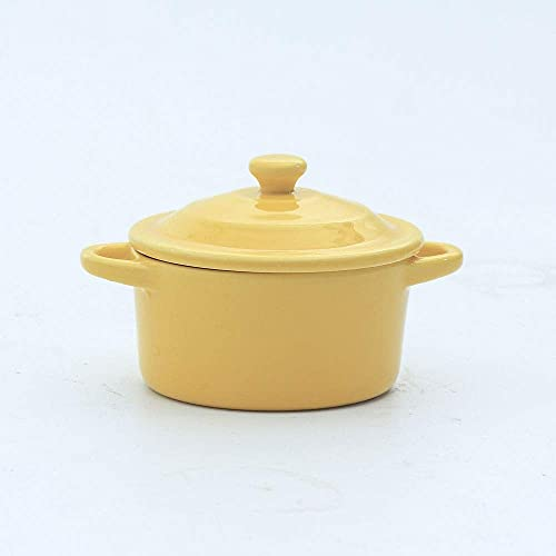 wsetrtg Cuenco de Sopa de cerámica para Ramen con Mango de Tapa Cuencos para estofado para Hornear Postre Leche de Soja Olla de Nido de pájaro Cuencos de Porcelana Taza Plato Dinerware (Color: 5)
