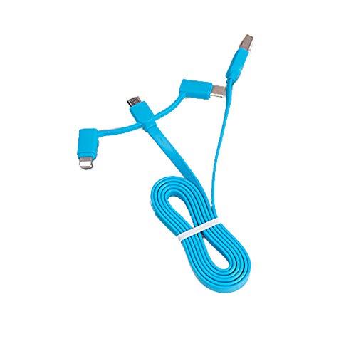 39' Pulgadas Multi Cable de Carga Compatible con Apple Android Tipo C-3-en-1 Cable de Carga de Datos Compatible para el teléfono Android de teléfono móvil Huawei (Azul) 1 PC Duradera Cable de Carga