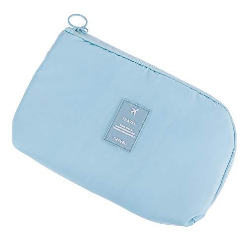 7 Styles Cosmetic Bag Travel Waterproof Portable Flamingo Makeup Bag Toiletry Women15 * 23CM-Sky_Blue_15 * 23CM
