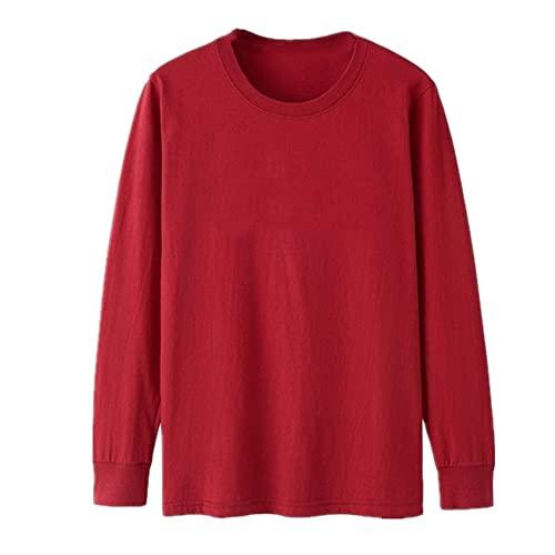 N\P Camiseta casual de manga larga para hombre de primavera y otoño, talla grande