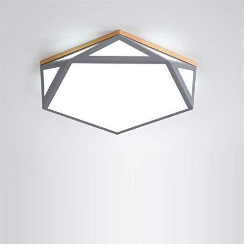 Thumby Plafond Licht Plafond Lampen Nordic Stijl Eenvoudige Thuis Slaapkamer Lamp Led Grijs Geometrische Diamant Smeedijzer Plafond Lamp Creatieve Vreemde Hout Master Slaapkamer Licht