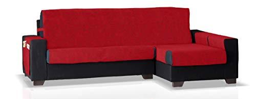JM Textil Copridivano Chaise Pharma Bracciolo Destro, Dimensione Grande (275 Cm.), Colore Rosso