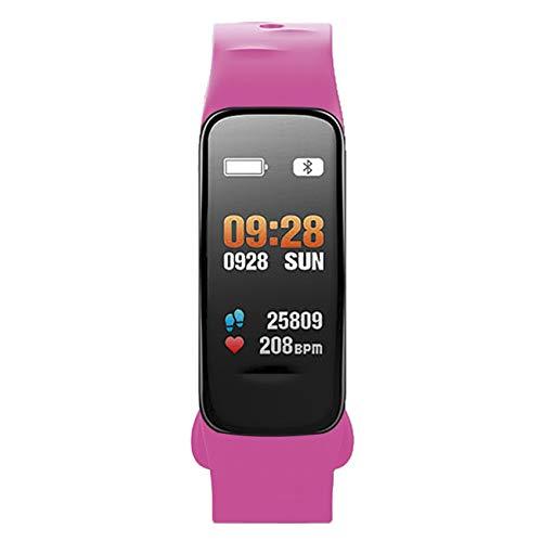Atlanta 9702/17 Fitnesstracker met bloeddruk, hartslagmeter, zuurstofkleurenscherm, smartwatch, armband, kleur roze