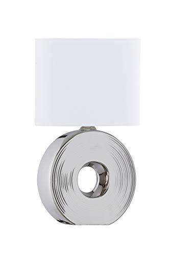 Fischer & Honsel Eye Lámpara de mesa, plateado y blanco