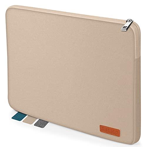 "sølmo I Design Laptop-Tasche 13-13.3 Zoll, Laptophülle 13,3 Zoll, Stoßfeste Notebooktasche kompatibel mit 13\"" MacBook Air, MacBook Pro 13, 12.3 Surface Pro, MacBook Air M1 Hülle, Beige"