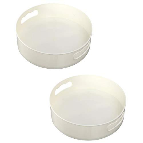 MERIGLARE Bandeja de Almacenamiento de Rotación Antideslizante de 2 Piezas Estante de Soporte de Maquillaje de Encimera de Usos Múltiples