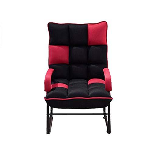 OH Sillón de tela lavable, plegable, estilo japonés, perezoso y rápido l/Rojo
