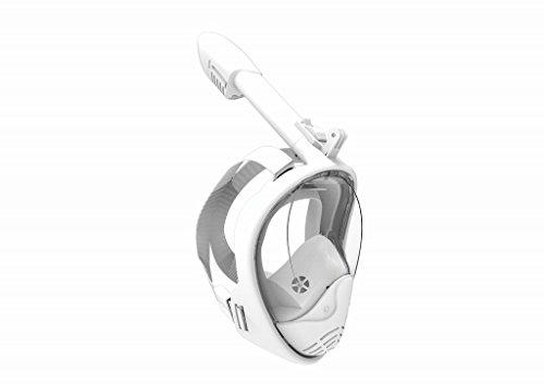 Snorkel Masker, 180° Breed View Panoramisch Full Face Opvouwbaar Ontwerp, Nieuwste Generatie GoPro Compatibel Anti-Mist Anti Lek Snorkeling Set voor Volwassen Jeugd en Kinderen