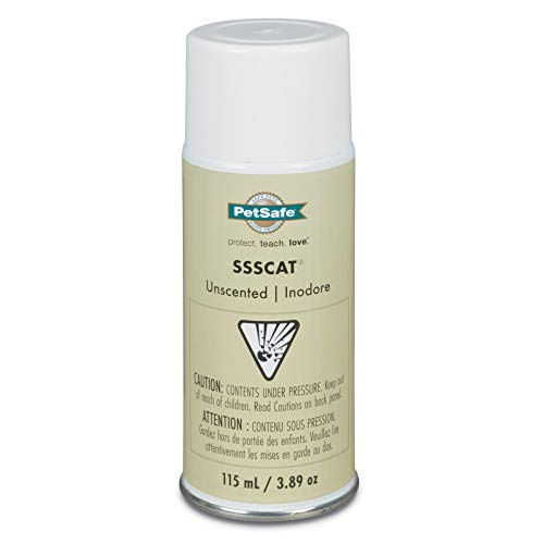 PetSafe SSSCAT Spray Replacement Can Only – Use with SSSCAT Spray Dog and Cat Deterrent System - Keeps Areas Pet Proof – Environmentally Friendly Training Repellent - Protect Your Pets and Furniture