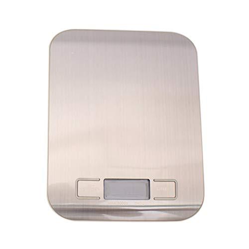 Báscula electrónica digital de cocina de acero inoxidable LED de 5 kg / 5000 g