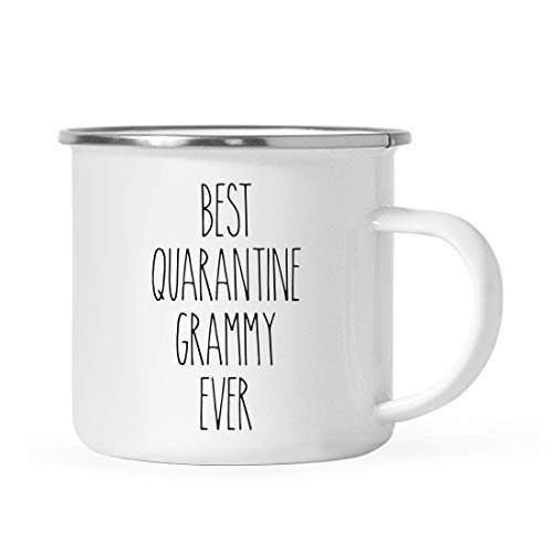 Andaz Press Funny Quarantine 11oz. Stainless Steel Campfire Coffee Mug Gift, Best Quarantine Grammy Ever, 1-Pack, for Birthday Gift Ideas, Self Isolation Social Distancing Pandemic Virus