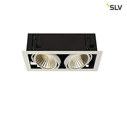 SLV LED Einbau-Strahler KADUX, dreh- und schwenkbar   Dimmbare Deckenleuchten, Beleuchtung innen   LED Spots, Fluter, Deckenstrahler, Decken-Lampen, Einbau-Leuchten   2-flammig, LED Inside, EEK E-A++