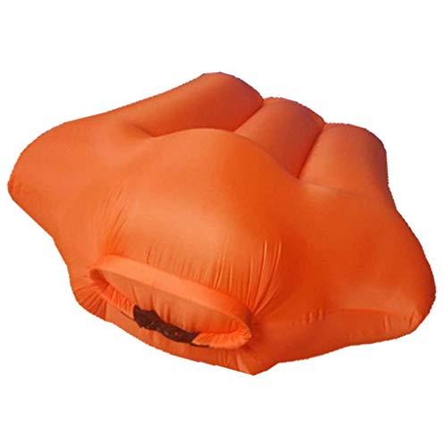 LuoMei Tumbona Inflable Sofá Cama Inflable Portátil Al Aire Libre Plegable Cada Saco de Dormir Perezoso Sofá Perezoso Bolsa de Frijoles Envío Gratis Cepillo Pegajosonaranja, a