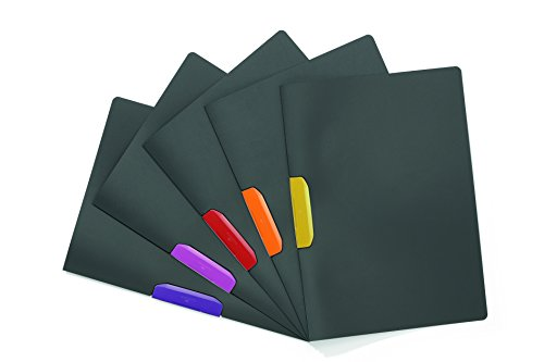 Price comparison product image DURABLE Report Cover with SWINGCLIP,  Letter-Size,  Holds Up to 30 Pages,  Gray / Multicolor,  5 Pack (231200)