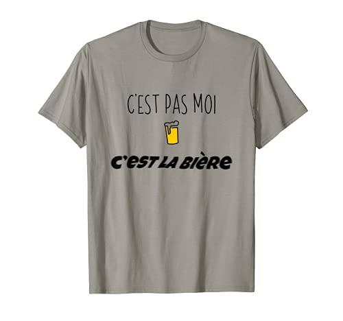 C'est pas moi c'est la bière idée cadeau anniversaire humour T-Shirt