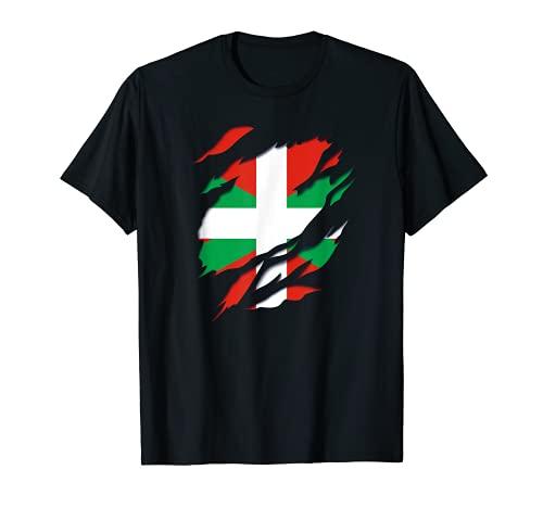 Pais Vasco Ikurriña Bandera y Escudo de Armas Camiseta