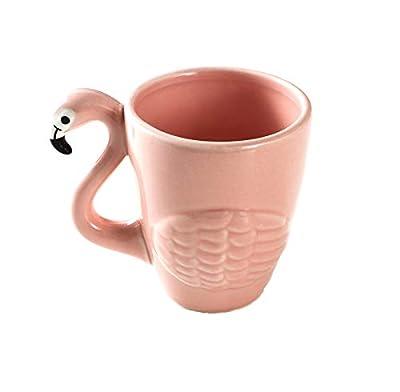 Infiniment Grand Centre de home Decor 1pcs exclusif Rose Flamant rose en céramique Pot de thé et de thé Théière Tropical