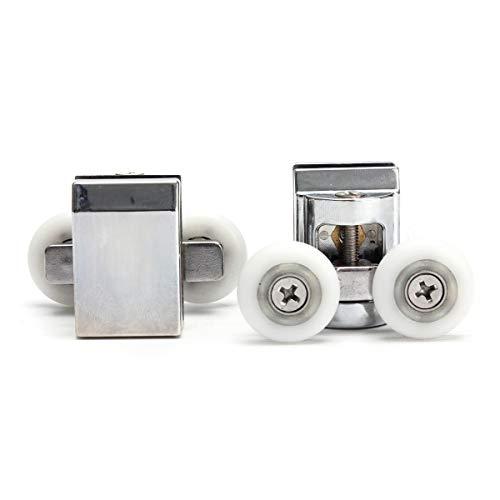 Wz Dubbele Casters Wielen, Aluminium Skeleton Douche Deur Top Wielen Voor Sliding Douche Deur Hardware Vervanging Onderdelen