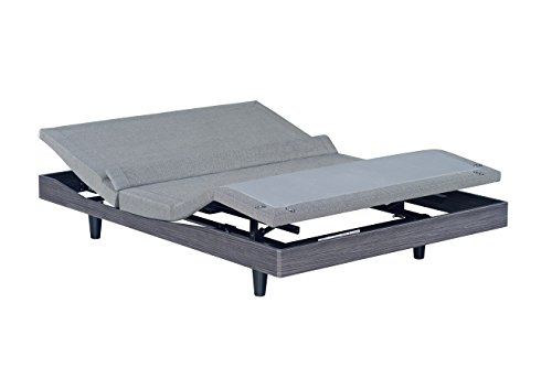 Reverie 9T Adjustable Bed Base, Wireless, Wall Hugger, High Definition Massage, Lumbar Support,...