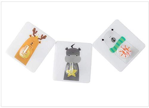 Handig 3pcs handdoek sleutelhouder rekken zelfklevende badkamer keuken dier hanger lijm haken plakken op de muur hangen deur kleren, Multi (Color : Multi)
