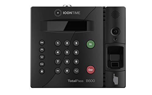 TotalPass B600 Biometric Fingerprint Employee Time Clock | 100% Identity Verification on Every Punch| Connect via USB, Network, Wi-Fi or Web| No Monthly Fees