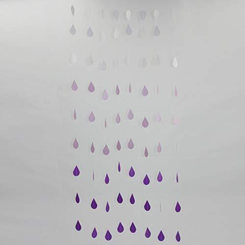 GEZICHTA Hanging Paper Garland Decoration Wedding St Chain Raindrop Drip-Drop Graduate Ceiling Birthday Banner(Purple)