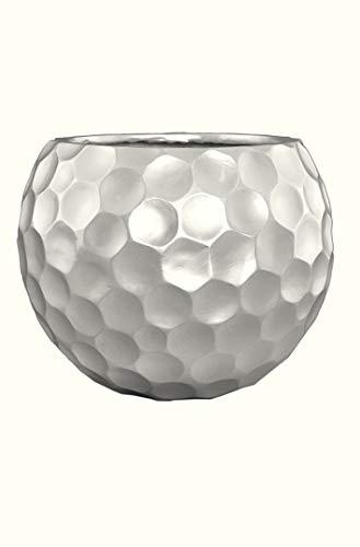Pflanzkübel Mondo aus Fiberglas L45xB45xH37 in matt Silber