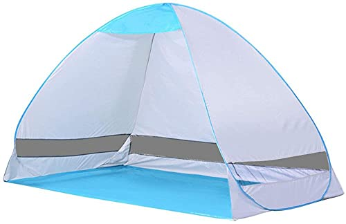 QPP-CL Pop Up Beach Tent, Refugio de Sol Impermeable Plegable Instantáneo al Aire Libre Abierto Cabana, para Camping/Familia/Barbacoa/Jardín/Parque/Pesca/Picnic