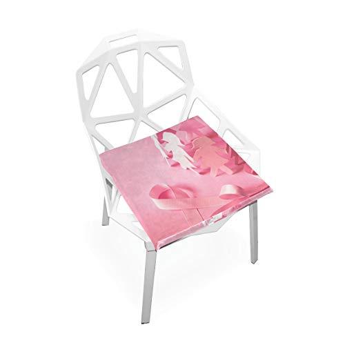 La couverture carrée antidérapante molle faite sur commande mousse mémoire mémoire conscience cancer du sein ruban rose rembourre le siège pour la cuisine à la maison fauteuil roulant 16 x 16 pouces