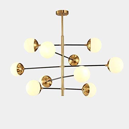 LLLKKK Lámpara de araña satélite moderna sin errores de mediados del siglo XIX, de latón cepillado, para iluminación de pasillo, bar, restaurante, cocina o techo