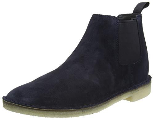 Clarks Herren Desert Chelsea Boots, Blau (Navy Suede Navy Suede), 43 EU