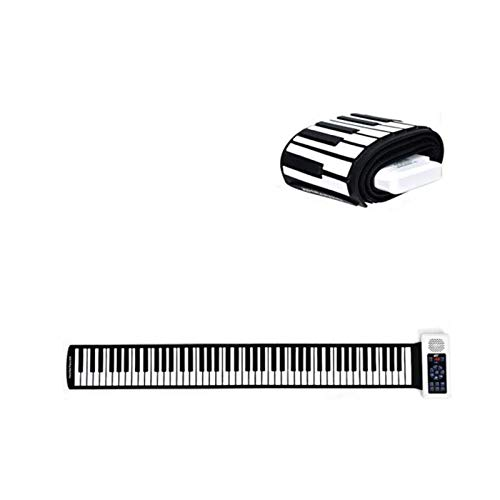 GUOQING 88 Keys Flexible Folding Electronic Keyboard Easy To Take Instrument Roll Up Piano Portable (Color : Black)