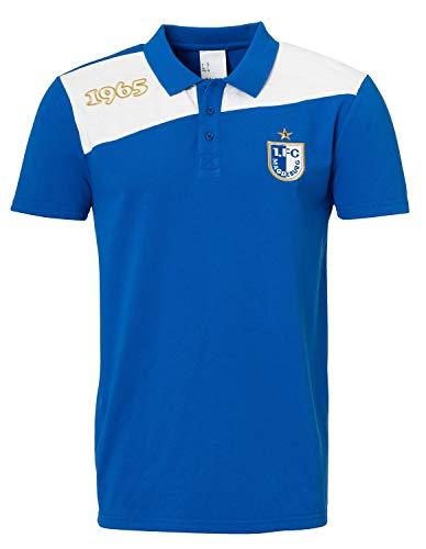 uhlsport 1. FC Magdeburg Polo-Shirt Freizeit 2018/2019 Azurblau/Weiß, M